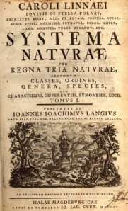Systema Naturae title page