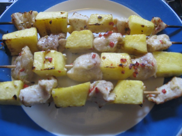 Crocodile skewers