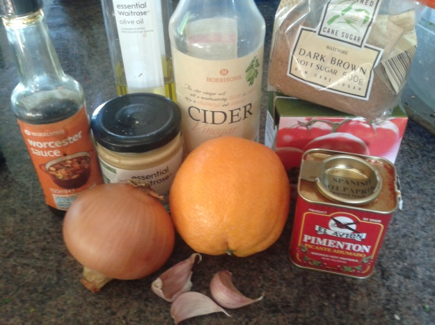 Colonel Mustard's Barbecue Sauce ingredients