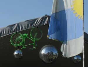 Bike and glitterball