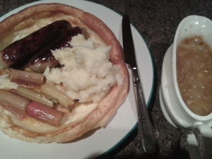 Sausage and Yorkshire Pudding