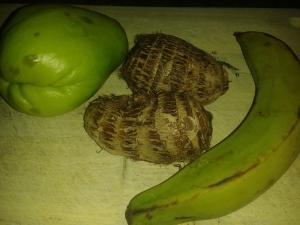 Chayote, Eddo, Plantain