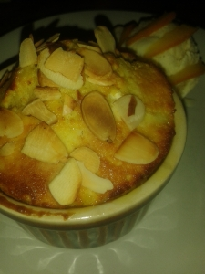 Orange almond pudding