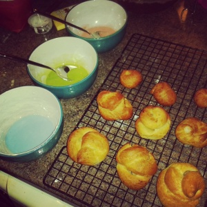 Preparing courtesans au chocolat