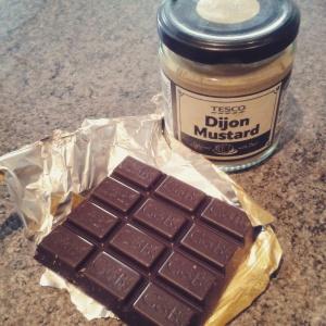 Chocolate and mustard