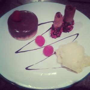 Chocolate mustard dessert